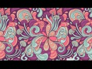 Abstract psychedelic pattern. Magic mushrooms. Vector. Tutorial