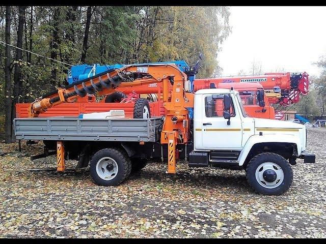 DONGHAE-3000A (аналоги DONGBUKAH-384MA, HOTOMI-1030A) - БКМ, бурит 6 м, 3500 Нм, на шасси ГАЗ-33088