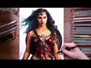 Drawing Wonder Woman (Gal Gadot) - speed drawing   drawholic