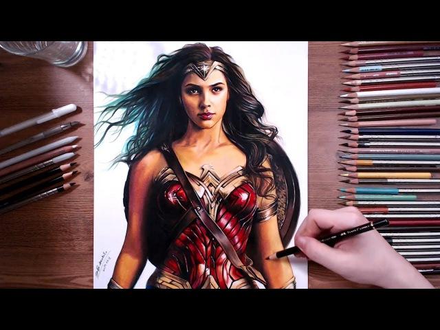 Drawing Wonder Woman (Gal Gadot) - speed drawing | drawholic