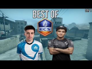 CS:GO - BEST OF ECS Season 3 Finals Day #1 (Shroud 1 vs 4, TACO 4K)