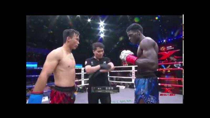 Feng Xingli (CHINA) vs Fernando Groenhart (NETHERLANDS) - KLF 64 Kickboxing - 7152017