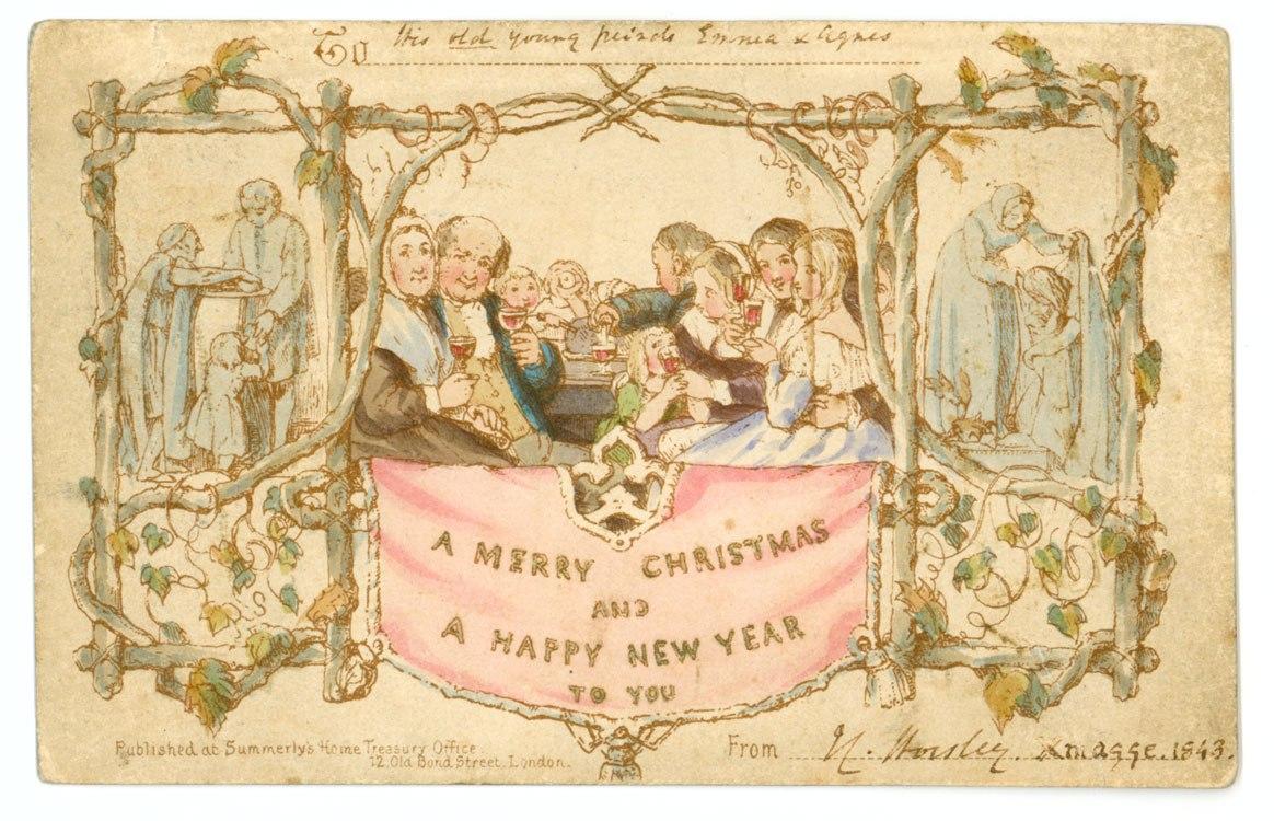 Фото, как появились рождественские открытки