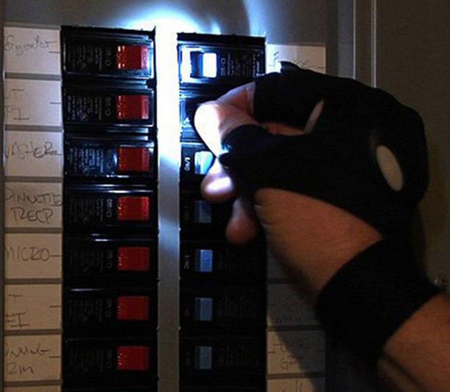 Перчатки с фонариками