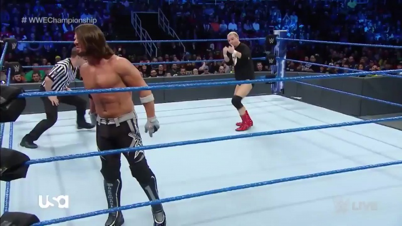 WWE Championship Match: AJ Styles vs Jamess Ellsworth