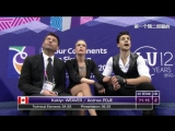 Four Continents Championships 2017. Ice Dance - SD.  Kaitlyn WEAVER  Andrew POJE