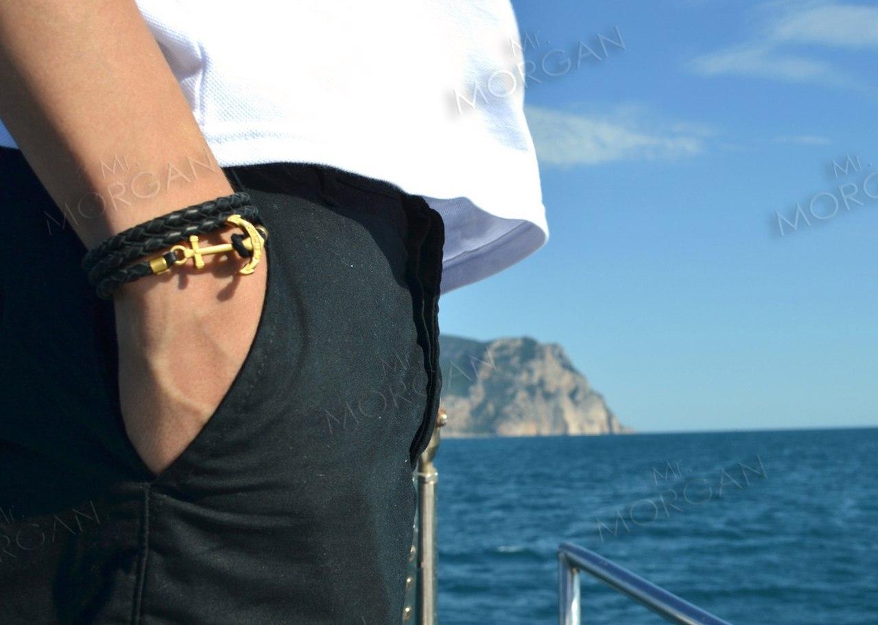 Мужские браслеты с якорем