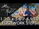 BreakDance Footwork Tutorial • 1 2 3 4 5 6 7 8 9 10 Step • Bboy MeditRock