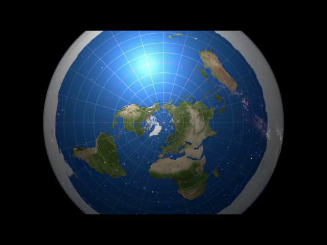 Развенчание плоской земли. 3D модель