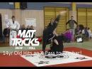Beautiful X-Pass to Knee on Belly Armbar by 14 year old Jiu-Jitsu Prodigy