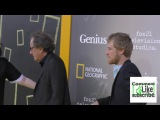 Geoffrey Rush and Johnny Flynn at the Premiere Of National Geographic's Genius at the Fox Bruin Thea