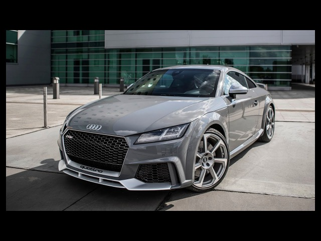 IT'S HERE! The 400hp 2018 AUDI TT-RS (5cyl,Turbo) - DRAGSTRIP MONSTER - Nardo Gray, Sports exhaust
