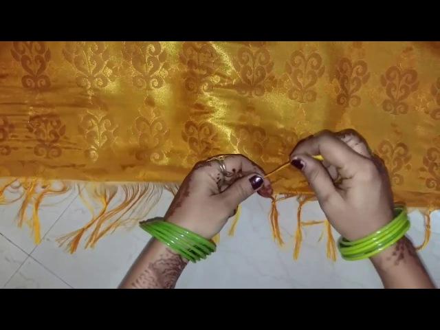 How to tie Knots on Saree Pallu (साड़ी के पल्लू में गाँठ कैसे बाँधते ह237