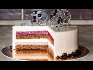 Муссовый кофейный торт Мокко с вишней  ССЫЛКА НА РЕЦЕПТ - ПОД ВИДЕО!