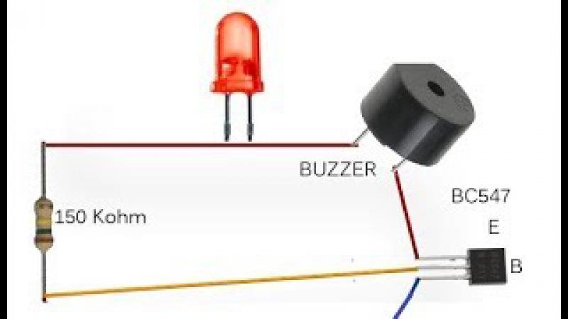 Простая ОХРАННАЯ СИГНАЛИЗАЦИЯ на одном транзисторе своими руками