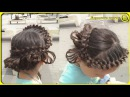 Quick and beautiful hairstyle How to braid child to school Как заплести ребенка в школу