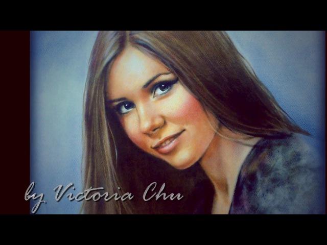 Как нарисовать портрет. Масло на бумаге. Сухая кисть. How to paint portrait. Dry brush. Viki-ART