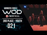 D21  3rd Place Youth  World of Dance Montreal Qualifier 2017  Winners Circle  #WODMTL17