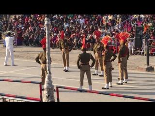 Закрытие Индо-Пакистанской границы. Амритсар февраль 2017г.