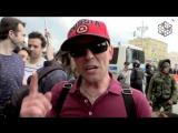 Путинист на митинге 12 июня - Во всем виноват навальный.