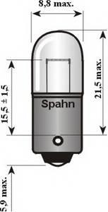 Лампа накаливания, стояночные огни / габаритные фонари; Лампа накаливания, стояночный / габаритный огонь для AUDI SUPER 90