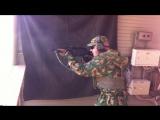 Сотрудник спецназа ВВ МДВ во время тренировочной стрельбы из ПП-19-01 Витязь.