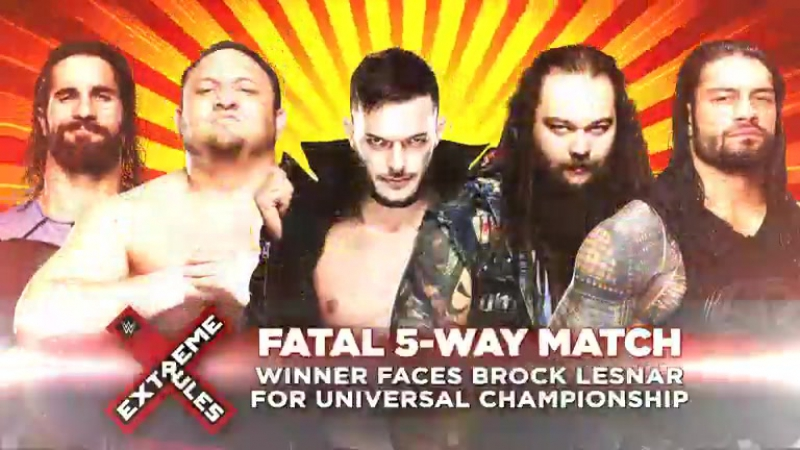 Don't miss the first-ever Extreme Rules Fatal 5-Way Match this Sunday at WWE Extreme Rules