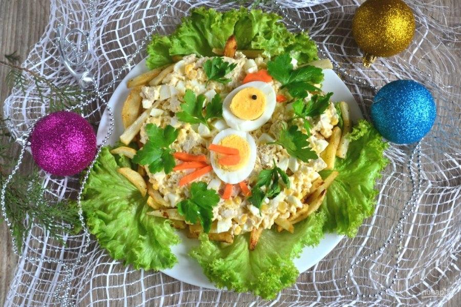 салат петушок рецепт с фото
