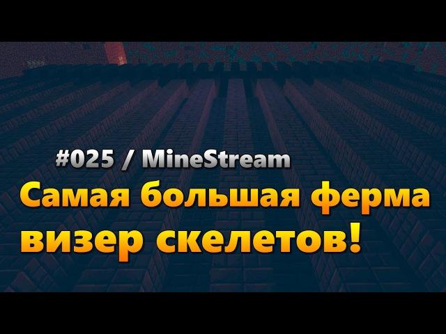 025 Самая большая ферма визер скелетов [Приватный сервер MineStream]