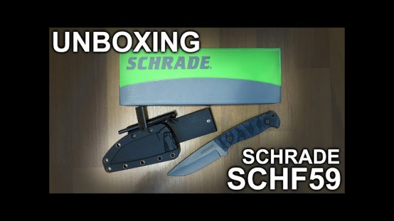 My first Fixed Blade unboxing! Schrade SCHF59