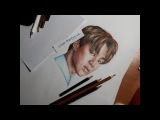 Jimin BTS The Brightest Star 17 drawing (by Elena Martynyuk)