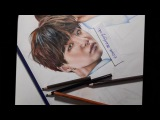 BTS Suga The Brightest Star drawing (by Elena Martynyuk)