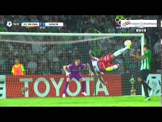 Golazo de Wanchope - Atl Nacional 4 vs Huracan 2 - Copa Libertadores 2016