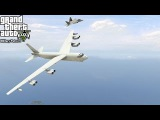 GTA 5 Military Patrol #5  B-52 Heavy Bomber Escorted By F-22's Takes Out Targets &amp Aerial Refueling
