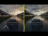 Forza Motorsport 7 Xbox One S vs Xbox One X Graphics Comparison - Nissan GT-R Nürburgring Wet Run