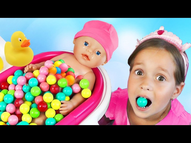 Learn Colors with Baby Сrying baby dolls Gumball Candy Song Finger Family Nursery Rhymes for kids