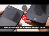 Google Pixel XL vs iPhone 7 Plus - Fingerprint Scanner Speed Test