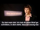 Jesse Eisenberg The Social Network Intreview for German TV