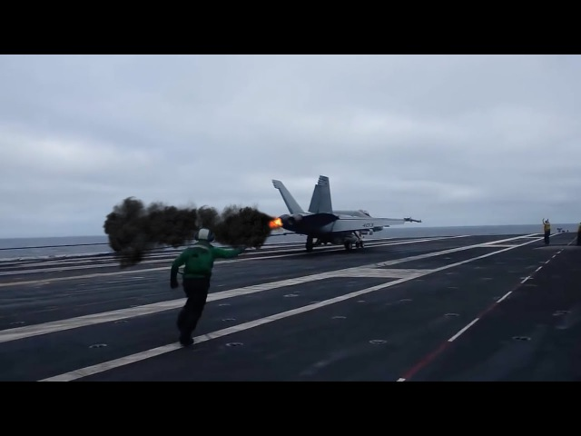 Spectacular Landings and Takeoffs of Two Different Types of Aircraft - Future Aircraft Carrier