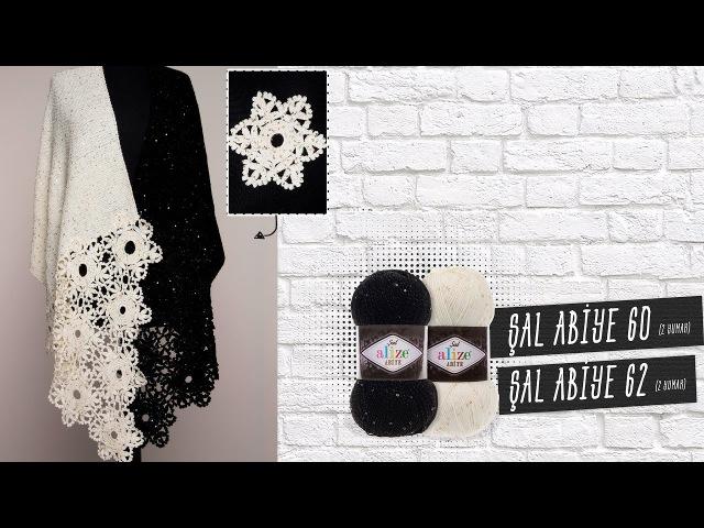 Alize Şal Abiye ile Şal Yapımı-Making Shawl with Alize Şal Abiye