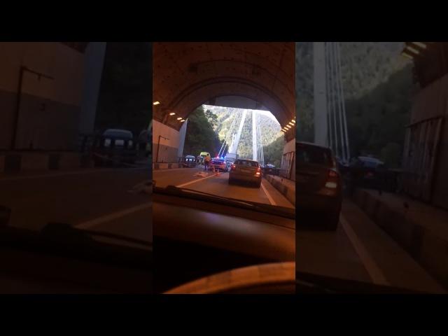 Авария по дороге на Красную Поляну