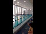 Открытое первенство г. Снежинска 50 м. кролем , результат 59 секунд