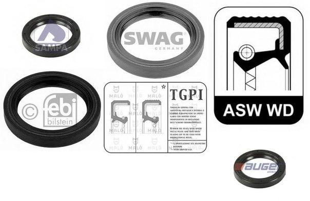 Уплотняющее кольцо, дифференциал; Уплотняющее кольцо, раздаточная коробка; Уплотняющее кольцо, ступица колеса для AUDI ALLROAD (4BH, C5)