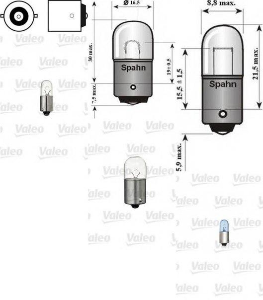 Лампа накаливания, фонарь освещения номерного знака; Лампа накаливания, задний гарабитный огонь; Лампа накаливания, внутренее освещение для AUDI QUATTRO (85)