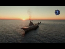 Адмирал Кузнецов АНДРЕЕВСКИЙ ФЛАГ- вечер на рейде