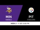 NFL 2017-2018 / Week 02 / Minnesota Vikings - Pittsburgh Steelers / Condensed Games / Сжатые игры / EN