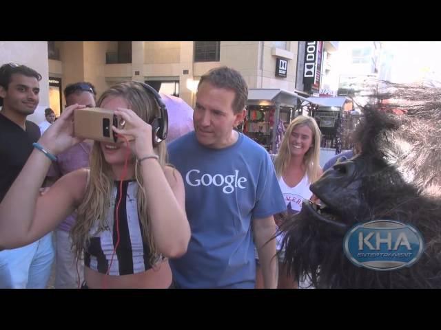 Google Cardboard - Первая реакция людей на очки виртуальной реальности