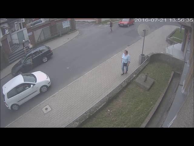 Kierowca bez uprawnień zaatakował używając auta. Lubań 21.07.2016