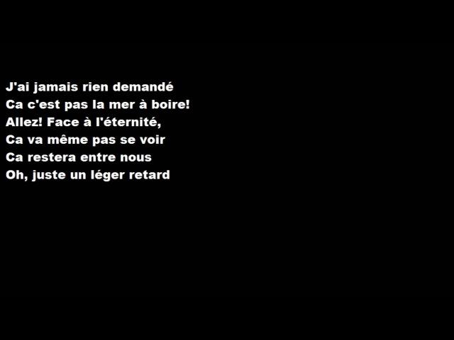 Céline Dion - Encore un soir (paroles)