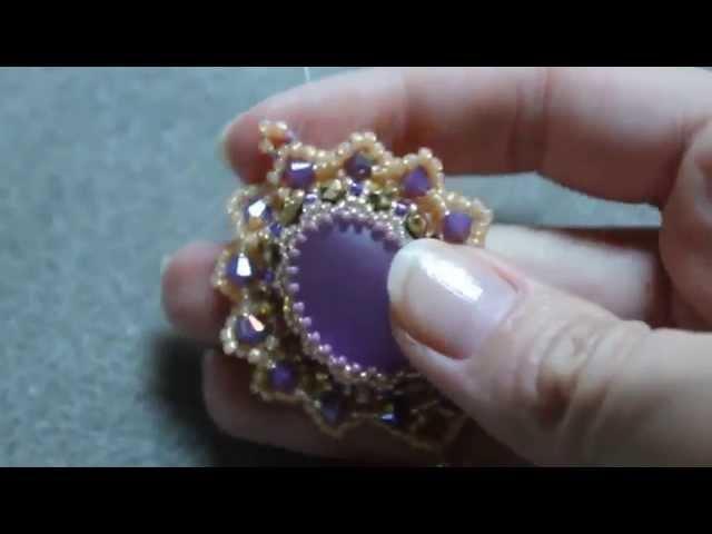 Tutorial perline - Pendende Marilyn con cabochon Soft Touch, Swarovski, mezzi cristalli